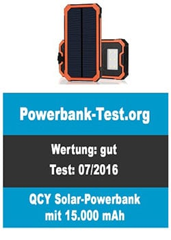 Solar-Powerbank Test